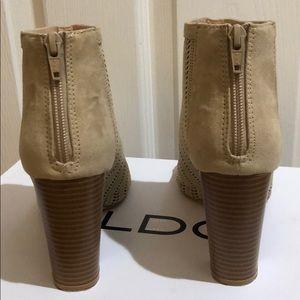 Aldo Shoes - Aldo Waewiel Ankle Open Peep Toe Bootie Heel